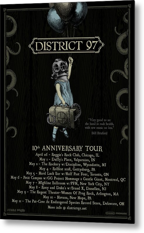 Metal Print featuring the digital art 10th Anniversary Tour by District 97