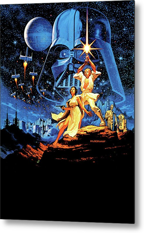 Star Wars Episode Iv A New Hope 1977 Metal Print By Geek N Rock