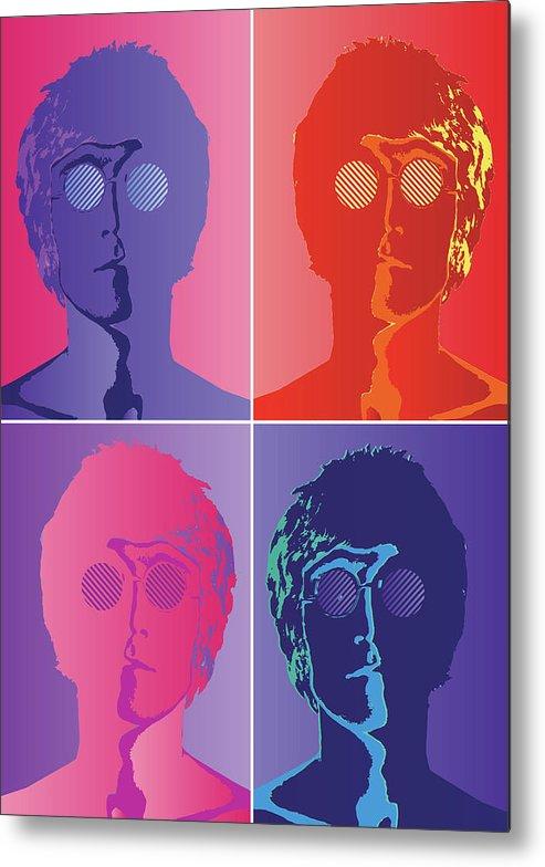 The Beatles Metal Print featuring the digital art The Beatles by Geek N Rock