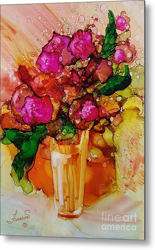 Bright Metal Print featuring the mixed media Aaaah Spring by Francine Dufour Jones