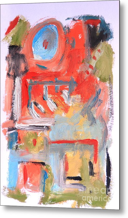Abstract Metal Print featuring the painting Abstract 7204 by Michael Henderson