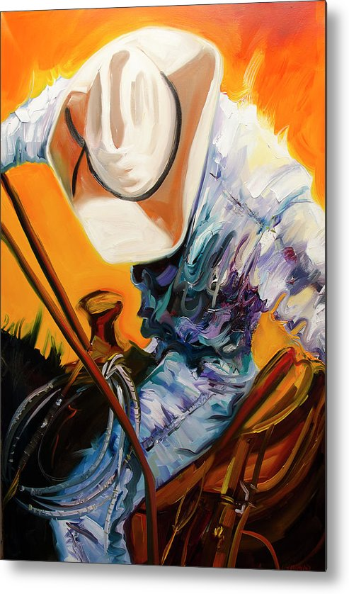 Rodeo Metal Print featuring the painting Action Jackson by Diane Whitehead