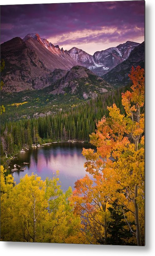 All Rights Reserved Metal Print featuring the photograph Aspen Sunset Over Bear Lake by Mike Berenson