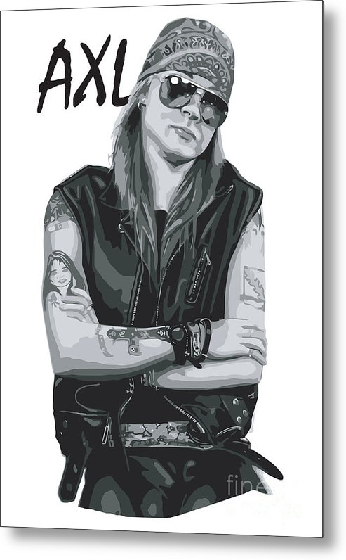 Axl Rose Metal Print featuring the digital art Axl Rose by Geek N Rock