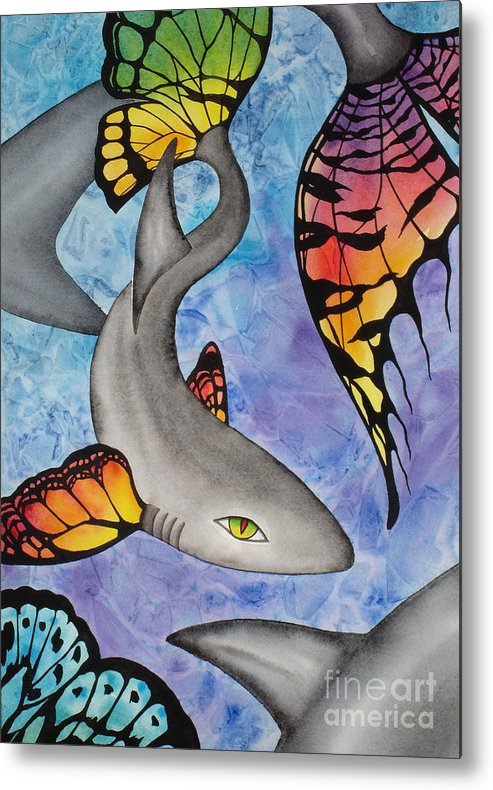 Surreal Metal Print featuring the painting Beauty In The Beasts by Lucy Arnold