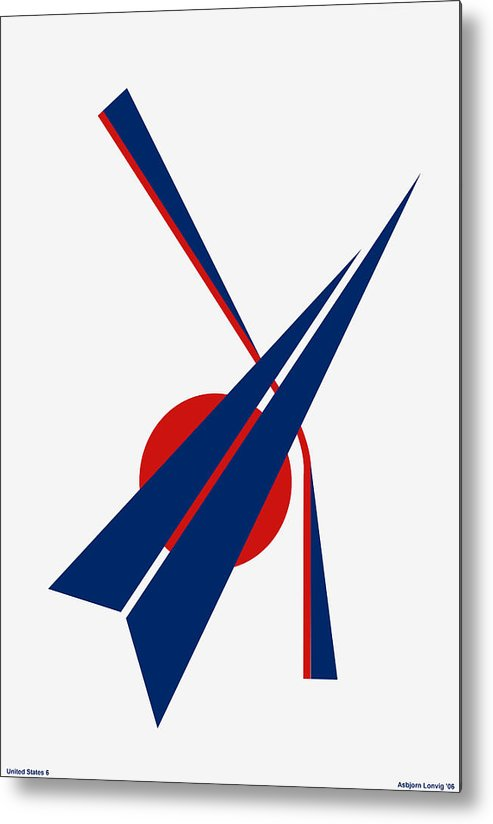 Black Arrow Metal Print featuring the digital art Black Arrow by Asbjorn Lonvig