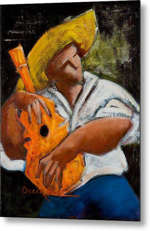 Puerto Rico Metal Print featuring the painting Bravado Alla Prima by Oscar Ortiz