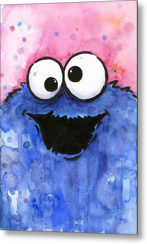 Cookie Metal Print featuring the painting Cookie Monster by Olga Shvartsur