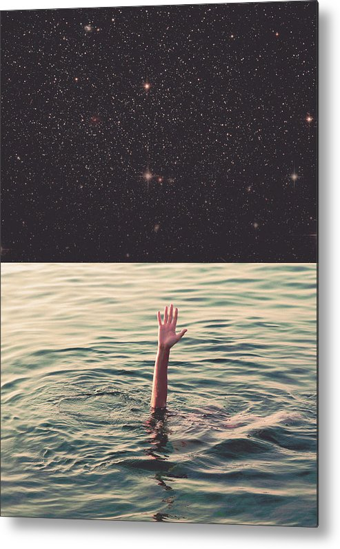 Collage Metal Print featuring the photograph Drowned In Space by Fran Rodriguez