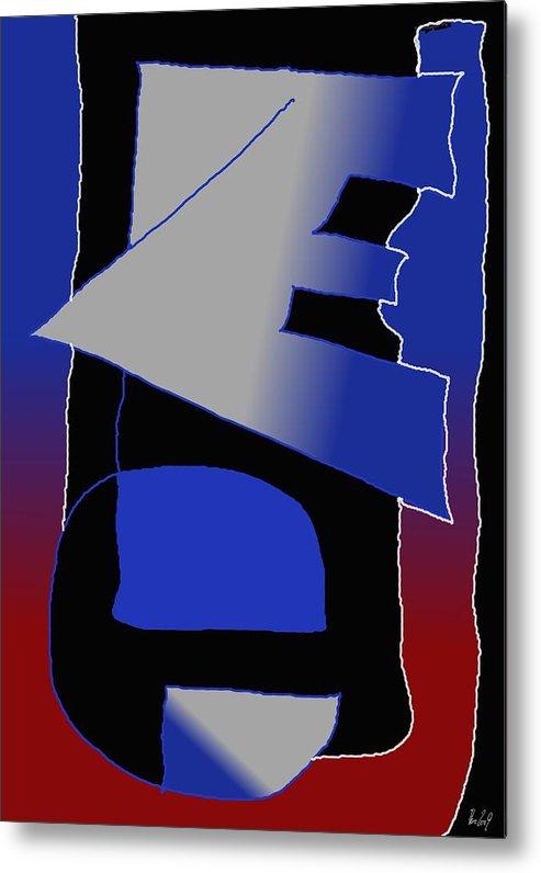 Eu Metal Print featuring the digital art E-likes-eu by Helmut Rottler