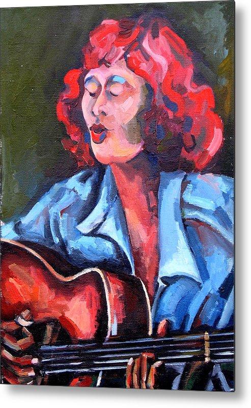 Blues Musician Metal Print featuring the painting Eleanor Ellis - Diving Duck Blues by Jackie Merritt