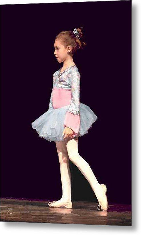 Child Ballerina. Metal Print featuring the digital art First Recital by John Helgeson