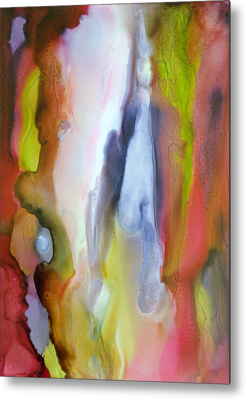 Abstract Metal Print featuring the painting Fully Alive - A by Sandy Sandy