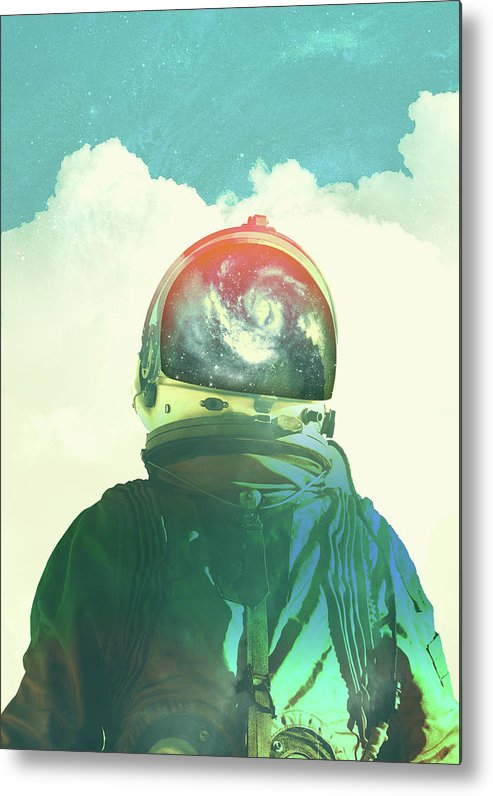 Collage Metal Print featuring the photograph God Is An Astronaut by Fran Rodriguez