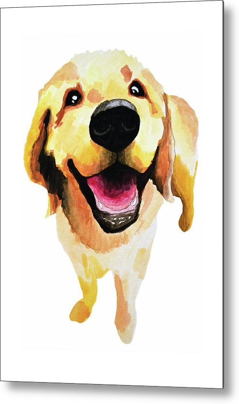 Dog Metal Print featuring the painting Good Boy by Amy Giacomelli