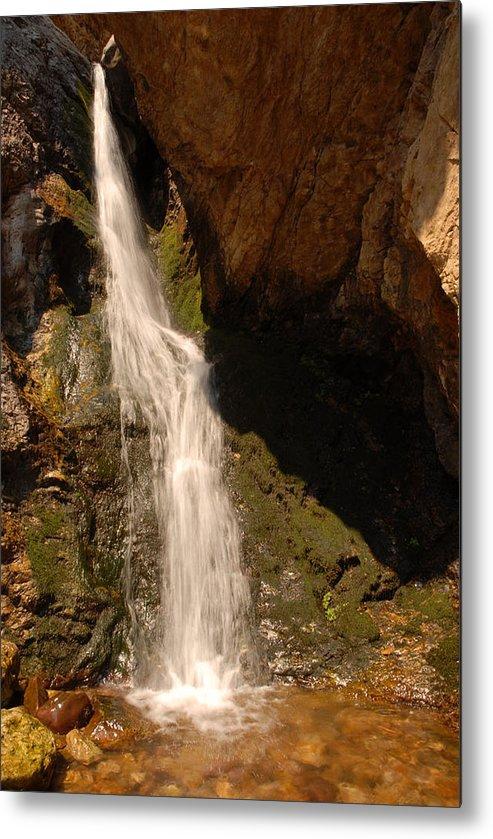 Waterfall Metal Print featuring the photograph Hidden Falls by Dennis Hammer