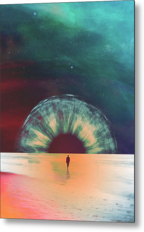 Collage Metal Print featuring the digital art I Am Dawn by Fran Rodriguez