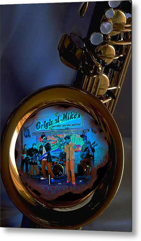 Music Metal Print featuring the photograph Inner City Soul by Linda Kish