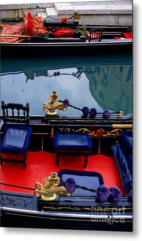 Venice Metal Print featuring the photograph Inside Gondola In Venice by Michael Henderson