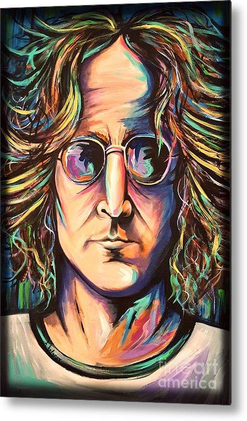John Lennon Metal Print featuring the painting John Lennon by Amy Belonio