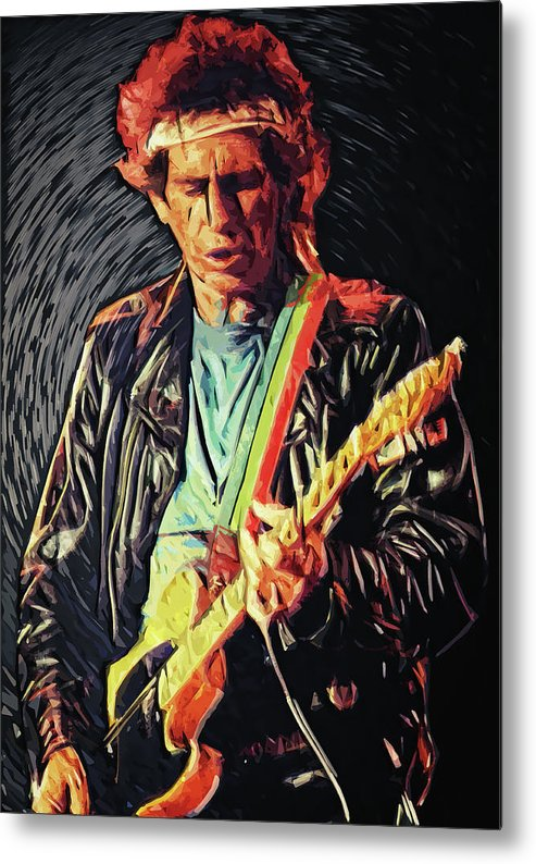 Keith Richards Metal Print featuring the digital art Keith Richards by Zapista OU