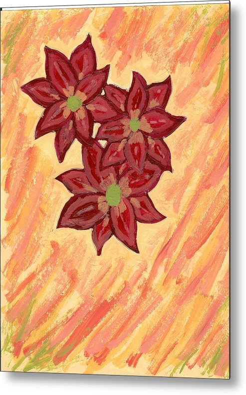 Flower Metal Print featuring the painting Kelli by Laura Lillo