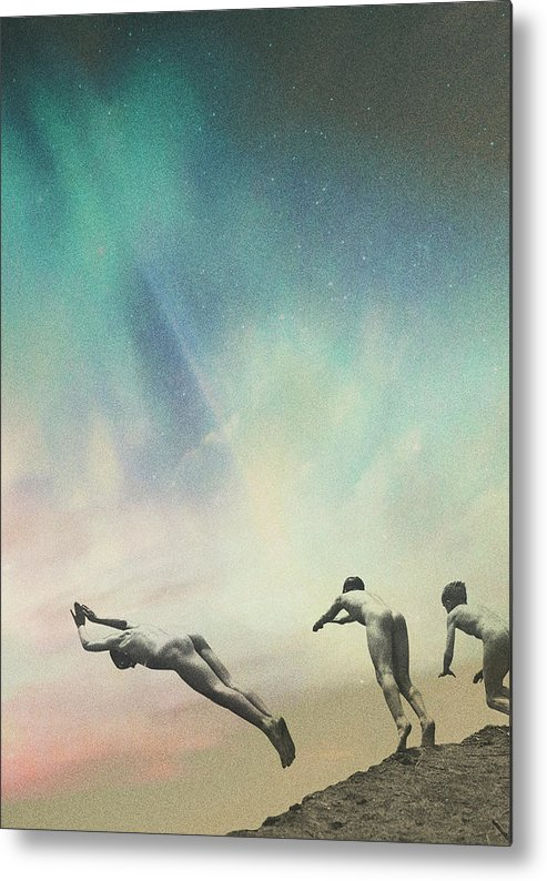 Collage Metal Print featuring the photograph Kids by Fran Rodriguez