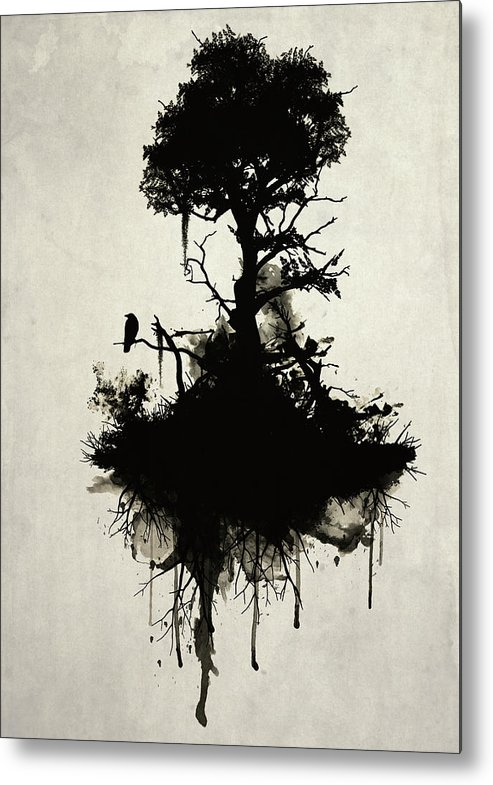 Nature Metal Print featuring the painting Last Tree Standing by Nicklas Gustafsson