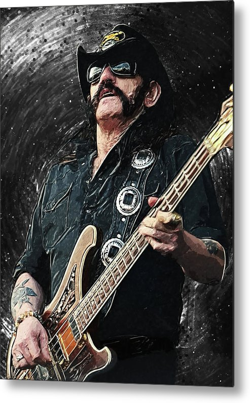 Lemmy Metal Print featuring the digital art Lemmy by Zapista OU