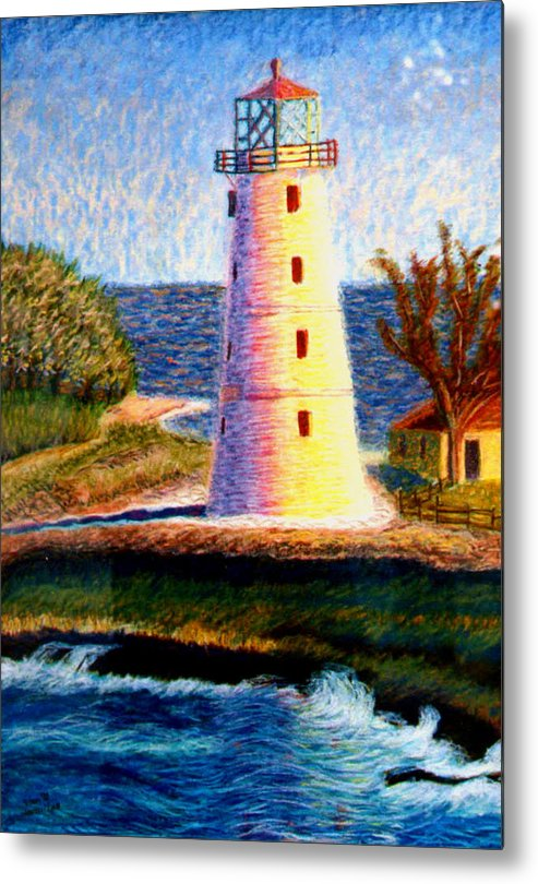 Lighthouse Metal Print featuring the painting Lighthouse by Stan Hamilton