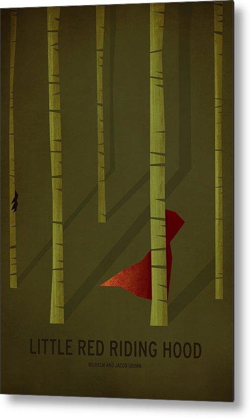 Stories Digital Art Metal Print featuring the digital art Little Red Riding Hood by Christian Jackson
