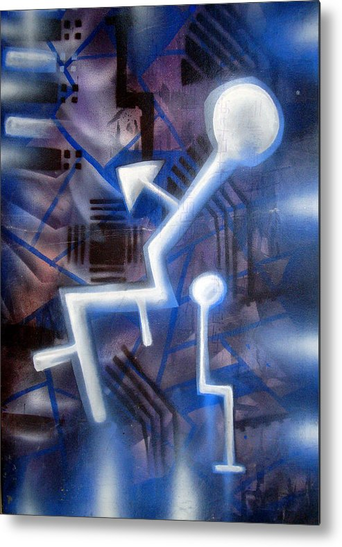 Man Metal Print featuring the painting man by Leigh Odom