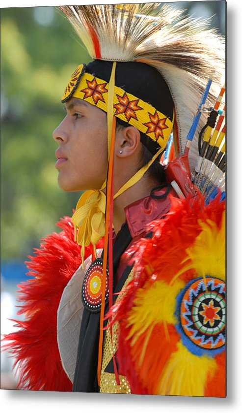 Indian Metal Print featuring the photograph Native Indian by Dennis Hammer