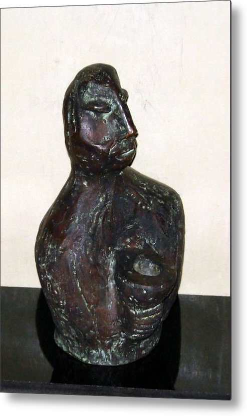 Male Torso Metal Print featuring the sculpture No. 245 by Vijayan Kannampilly