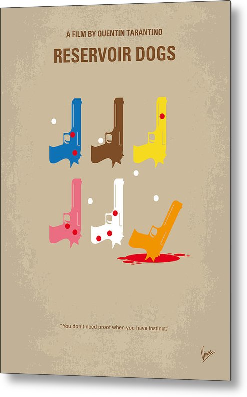 Reservoir Metal Print featuring the digital art No069 My Reservoir Dogs minimal movie poster by Chungkong Art
