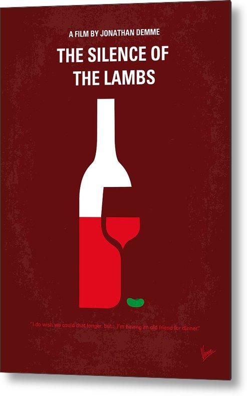 Silence Metal Print featuring the digital art No078 My Silence of the lamb minimal movie poster by Chungkong Art