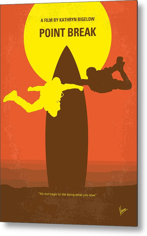 Point Metal Print featuring the digital art No455 My Point Break minimal movie poster by Chungkong Art