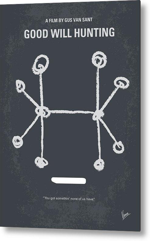 Good Metal Print featuring the digital art No461 My Good Will Hunting minimal movie poster by Chungkong Art