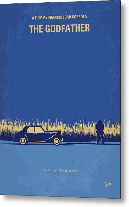 The Metal Print featuring the digital art No686-1 My Godfather I minimal movie poster by Chungkong Art