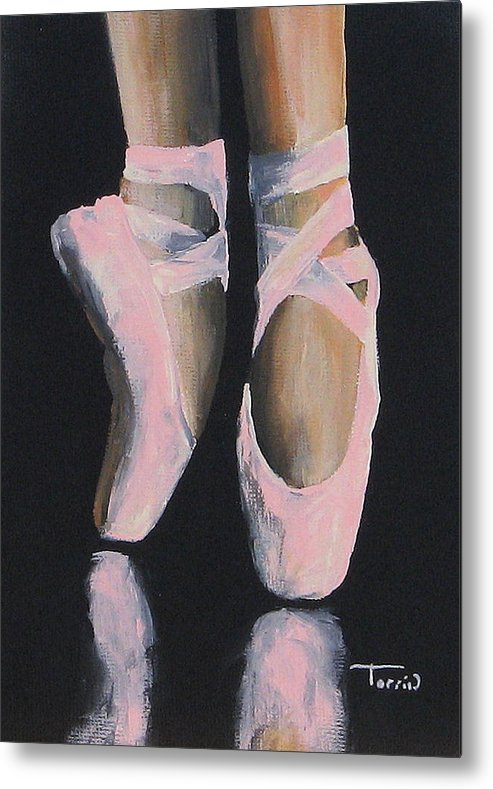 Ballet Metal Print featuring the painting On Point by Torrie Smiley
