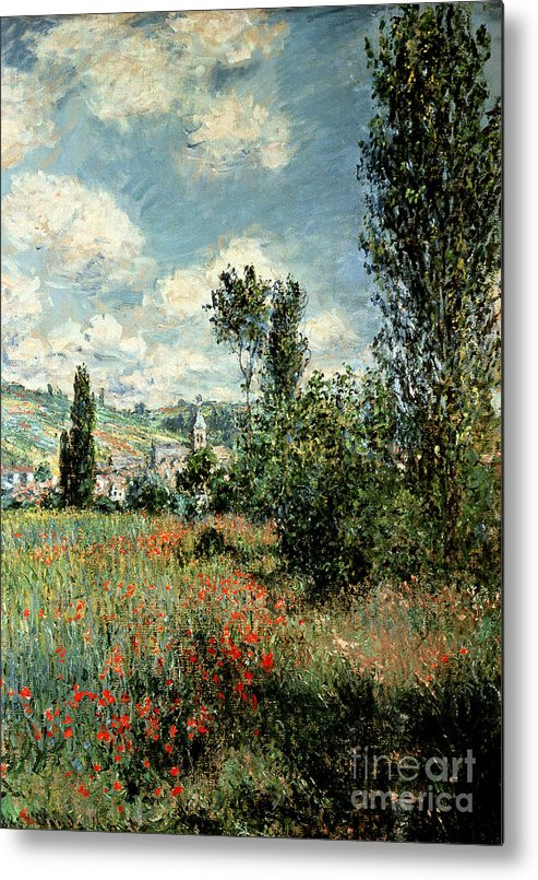 Path Metal Print featuring the painting Path through the Poppies by Claude Monet