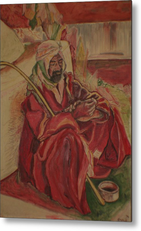 Metal Print featuring the painting Prayer at Benghazi by Biagio Civale