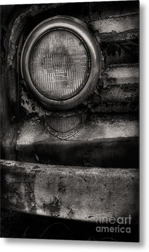 Scotopic Metal Print featuring the photograph Scotopic Vision 7 - Headlight by Pete Hellmann