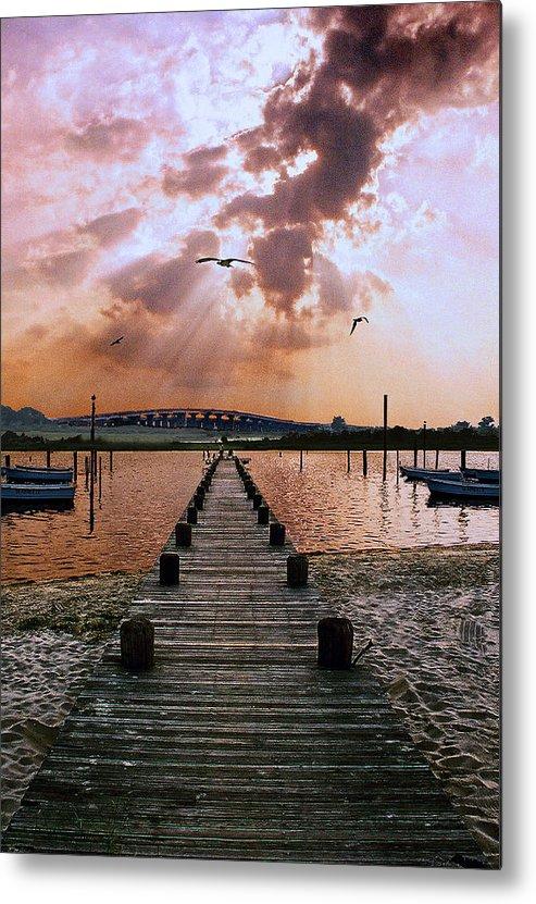 Seascape Metal Print featuring the photograph Seaside by Steve Karol