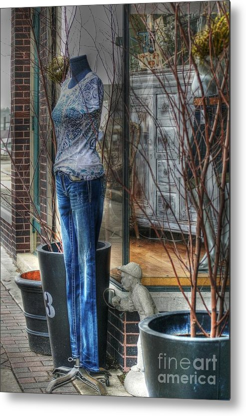 Mannequin Metal Print featuring the photograph Size Six by David Bearden