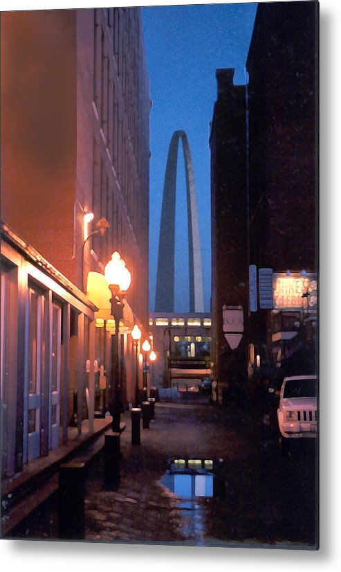 St. Louis Metal Print featuring the photograph St. Louis Arch by Steve Karol
