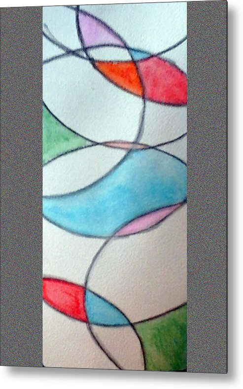 Stain Glass Metal Print featuring the painting Stain Glass by Loretta Nash