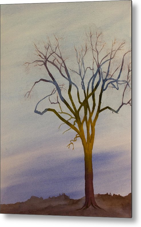 Surreal Metal Print featuring the painting Surreal Tree No. 1 by Debbie Homewood