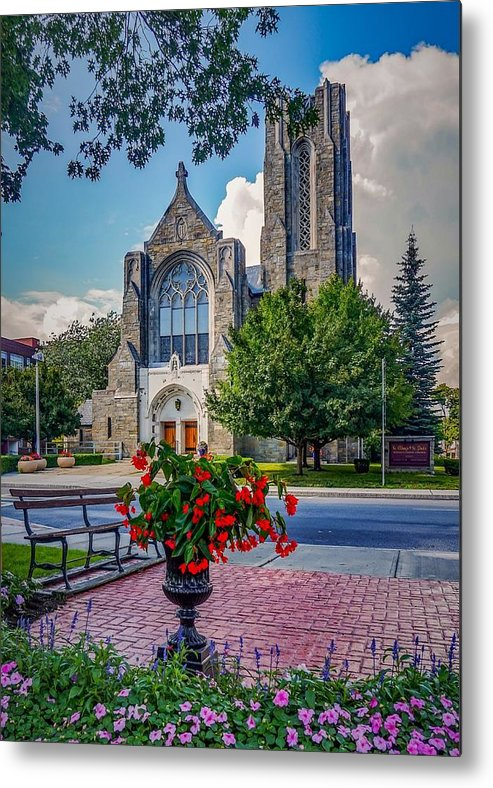Metal Print featuring the photograph The church in summer by Kendall McKernon