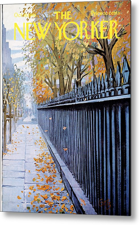 Season Metal Print featuring the painting New Yorker October 19, 1968 by Arthur Getz